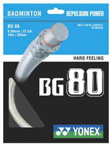 YONEX BG80 0.68 mm Badminton Strings Set 							 							</span>