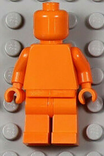 Plain Minifig Orange Minifigure Lego Minifig ORANGE Monochrome NEUF