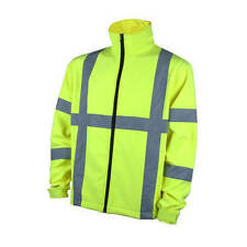 Terra 100304LI GLOW Hi-Vis Soft-Shell Yellow Jacket with 2 in. Reflective Tape