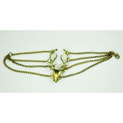 Fashion Vintage Hirsch Armband Bronze O0M5