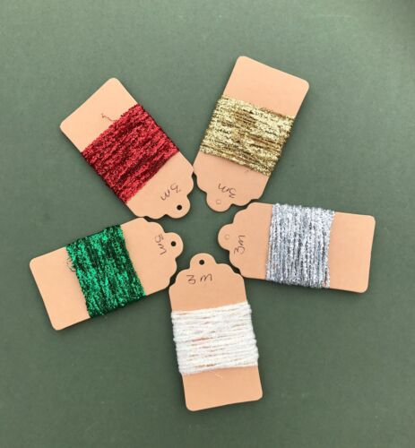 Metallic String Christmas Packaging Tinsel String Silver Green Red Gold White