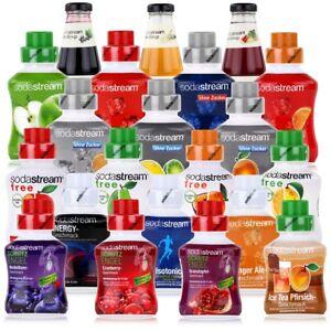 für SodaStream®* Getränkesirup Fruchtsaft Konzentrat Sirup Zusatz 1:8 z.B