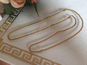 Original-Christian-DIOR-Halskette-KETTE-Collier-edel-zart-Vintage-Golden-Glanz
