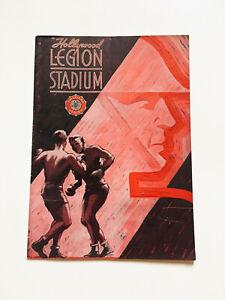 Rare-Vintage-1948-Hollywood-Legion-Stadium-Boxing-Magazine-Program