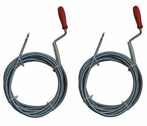 B-Stock-2-Piece-Flexible-Pipe-Cleaning-Shaft-5m-6mm-Spiral-Cable-System