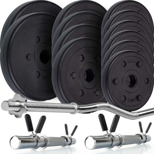 ScSPORTS® Hantelset 39 kg Hanteln Kurzhanteln SZ Stange Hantelscheiben Gewichte