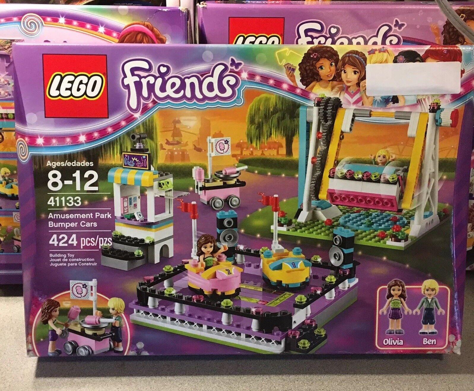 Conjunto retirado por juego de Lego Friends  parque de atracciones parachoques coches (41133) - Nuevo Sellado