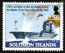 USS LEXINGTON CV-2 Aircraft Carrier (Battle of the Coral Sea) WWII Warship Stamp