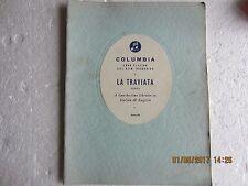 LA TRAVIATA-LIBRETTO IN ENGLISH/ITALIAN-COLUMBIA-1956