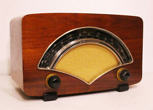 Old-Antique-Wood-Zenith-AM-FM-Vintage-Tube-Radio-Restored-amp-Working-Table-Top