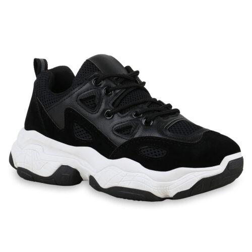 Damen Chunky Sneaker Plateau Turnschuhe Schnürer Freizeitschuhe 831146 Schuhe