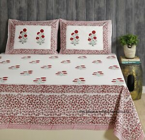 2 pillowcases embroidered floral traditional pure cotton bed cover bed sheet