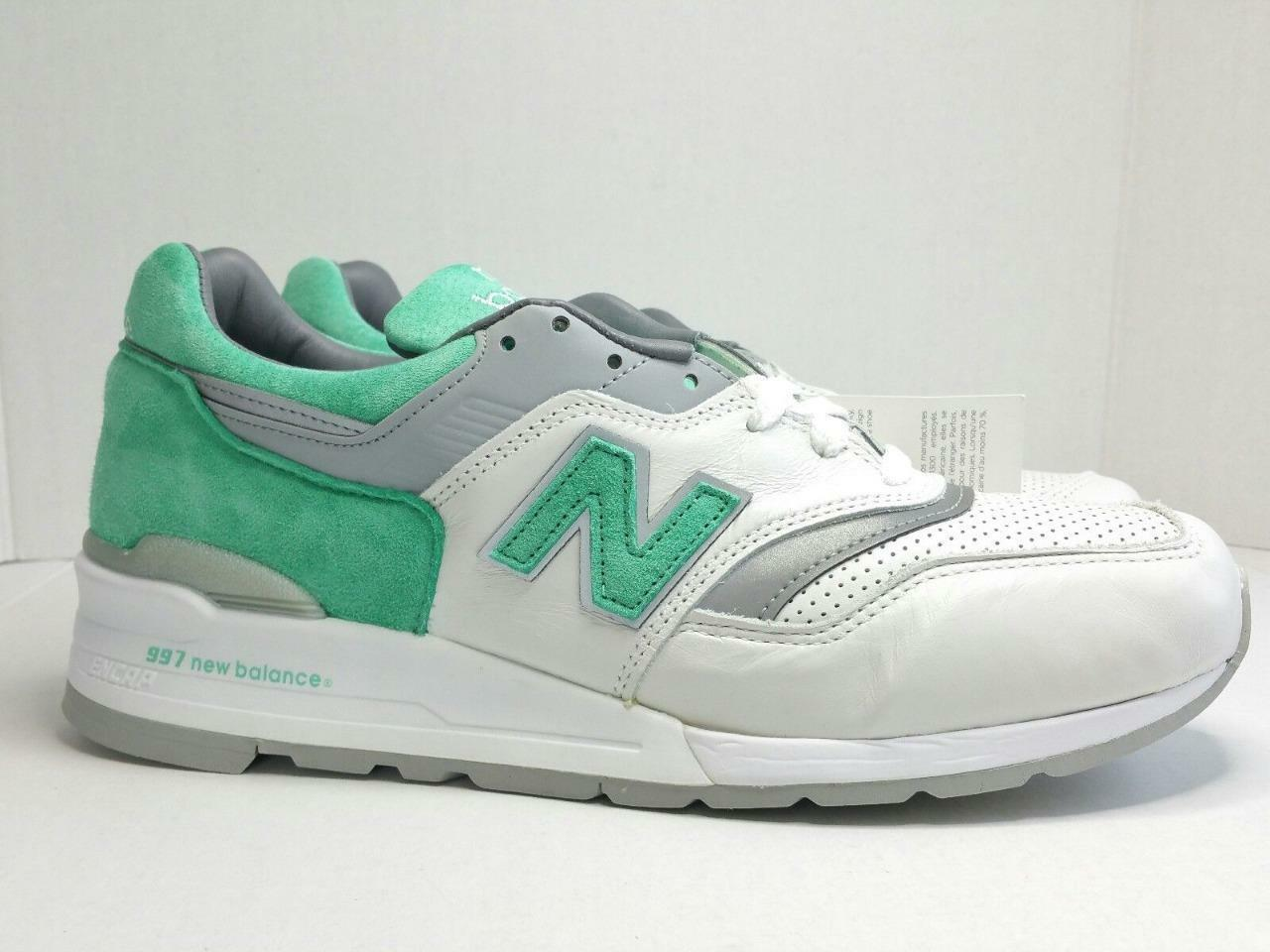 New Balance M997CMA Mint Green/White/Grey 997 Men's Shoes Sz 10.5 M Made In USA