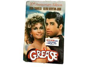 GREASE-Music-CD-VHS-amp-Script-Book-Screenplay-20th-Anniversary-Boxset-1998-NIB