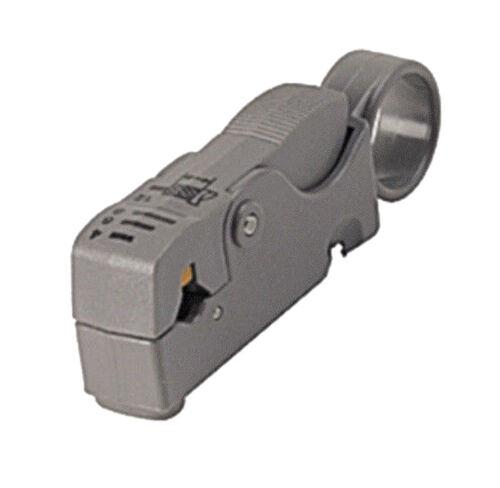 COAX CABLE STRIPPER TOOL 2 BLADE RG6 RG59 Dual//Quad Shield Coaxial Cable RG58