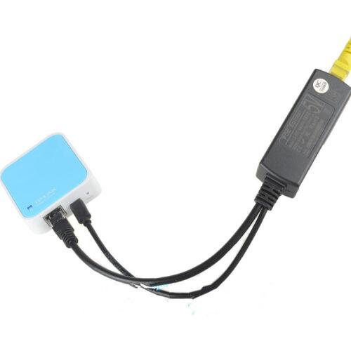 Active PoE Splitter Power Over Ethernet 48V to 5V 2.4A USB 4 Raspberry Pi,