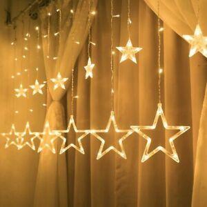 Fairy Light Festoon Wedding Garland Decors Star LED String Lights Curtain Indoor