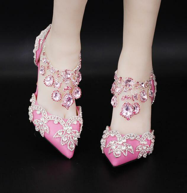 Womens Rhinestone Wedding Party Evening Evening Evening Bridal Stiletto High Heel Pump shoes E75 015cf4