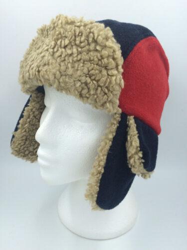 Polaire Rouge Bleu Garçons Flying Hat Marron Fausse Fourrure 54cm entièrement neuf sans étiquette 0203
