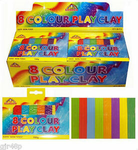 Rainbow-8-Colour-Play-Modelling-Clay-100g-Safe-Plasticine-Kids-Party-Bag-Fillers