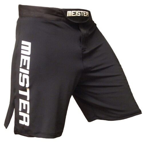 MEISTER STRETCH SPRINT BOARD SHORTS BLACK - MMA Fight Training Boxing S M L XL