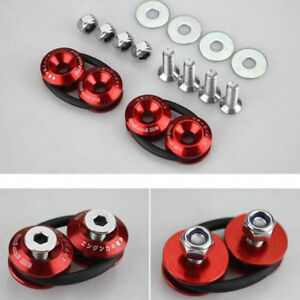 Fastener-Screw-Quick-Release-Bolt-On-Bumper-Fender-JDM-Trunk-Loop-Ring-Red-Kits