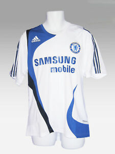 New-ADIDAS-CHELSEA-FOOTBALL-Player-Issued-Training-Shirt-White-40-034-42-034-USA-M