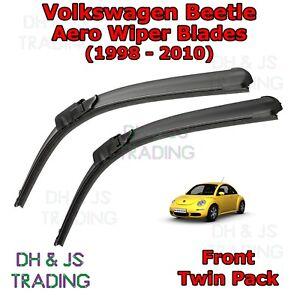 98-10-Volkswagen-Escarabajo-Aero-Wiper-Blades-Limpiador-de-hoja-plana-Delantero-VW