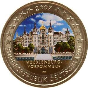 A2982-Allemagne-2-Euros-commemo-Mecklenburg-2007-Colorful-Colorise-FDC-UNC-F-O