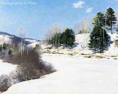 Town in Winter by Willam Koekkoek Art Snow Street People Cold 8x10 Print 0819