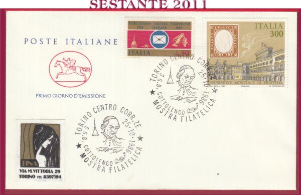 100% Vrai Italia Fdc Cavallino Filatelica San G. B. Cottolengo 1986 Annullo Torino Y481