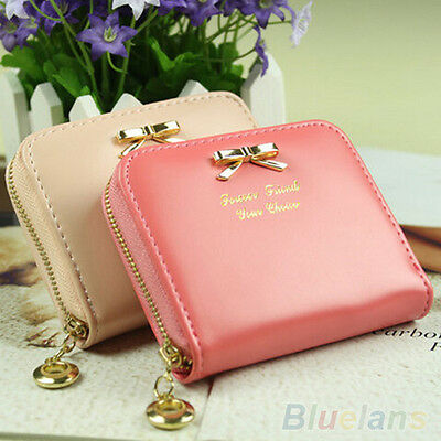 Durable Womens Fashion Mini Faux Leather Lady Purse Wallet Card Holders Handbag