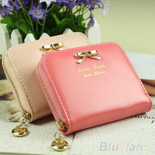 Durable Womens Fashion Mini Faux Leather Lady Purse Wallet Card Holders Handbag