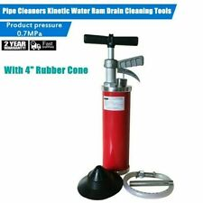 New General Pipe Cleaners Toilet Water Ram Drain Cleaning Tool With Accessory