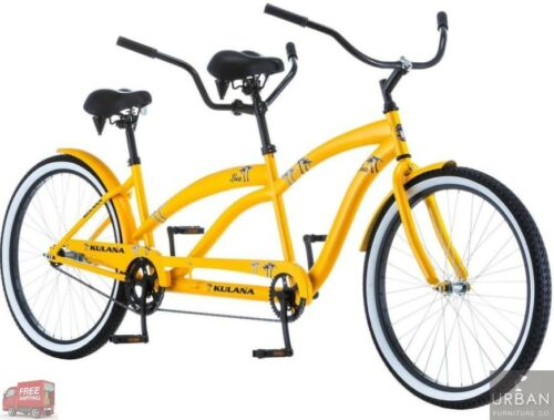 "26/"" Inch Tandem 2 Person Comfort Beach Cruiser Bike Exercise Bicycle Steel Frame"