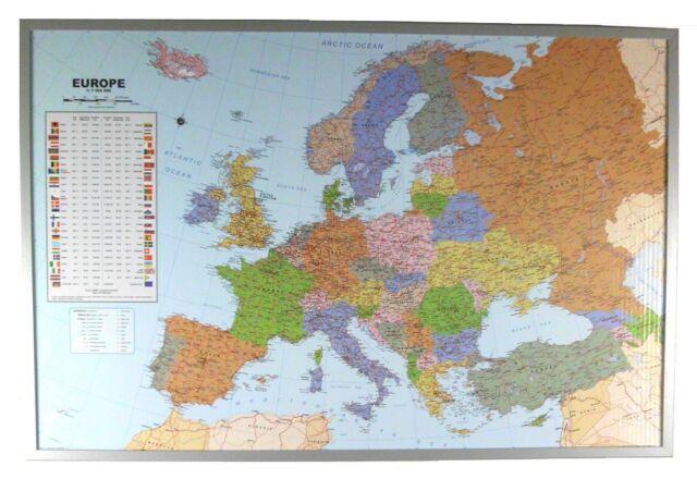 Politische Europakarte Als Pinnwand Auf Kork 199062 Gunstig