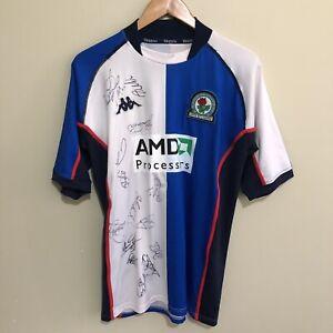 Blackburn-Rovers-2003-Autographed-Signed-Kappa-Jersey-Shirt-Mens-Large