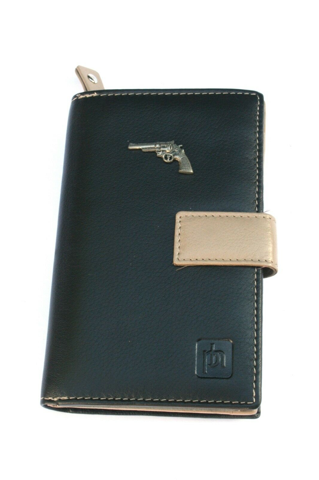 Modern Pistol Design Leather Purse with Zipped Pocket RFID Safe Ladies Gift 280