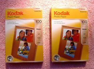 Pack-of-2-Kodak-Photo-Paper-Gloss-4x6-in-44-lb-6-mil-100-sheet-per-pk