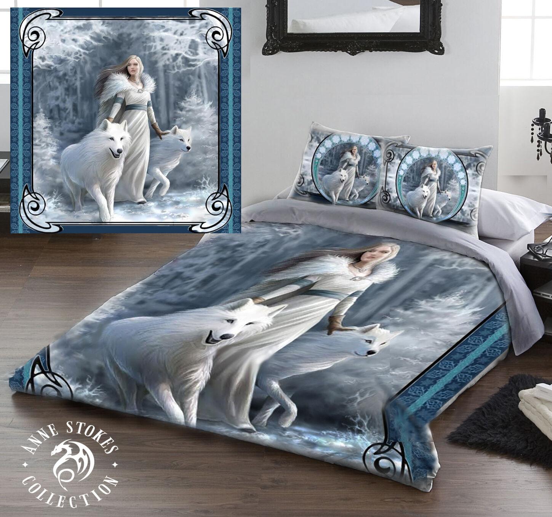 Anne Stokes Winter Guardians - Bettbezug Bettwäsche Set - in 2 Größen Erhältlich