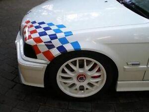 checkered flag hood vinyl decal sticker bmw motorsport ebay. Black Bedroom Furniture Sets. Home Design Ideas