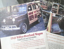 P 48 1948 Willys Jeep Woody Wagon Only 2 Pgs Info