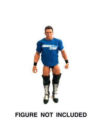 WWE /'Team Smackdown/' Survivor Series Custom Shirt For Mattel Basic Elite Figures