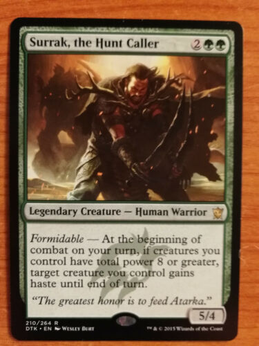 IL CONVOCATORE DI CACCIA SURRAK NM ENGLISH MTG MAGIC THE HUNT CALLER