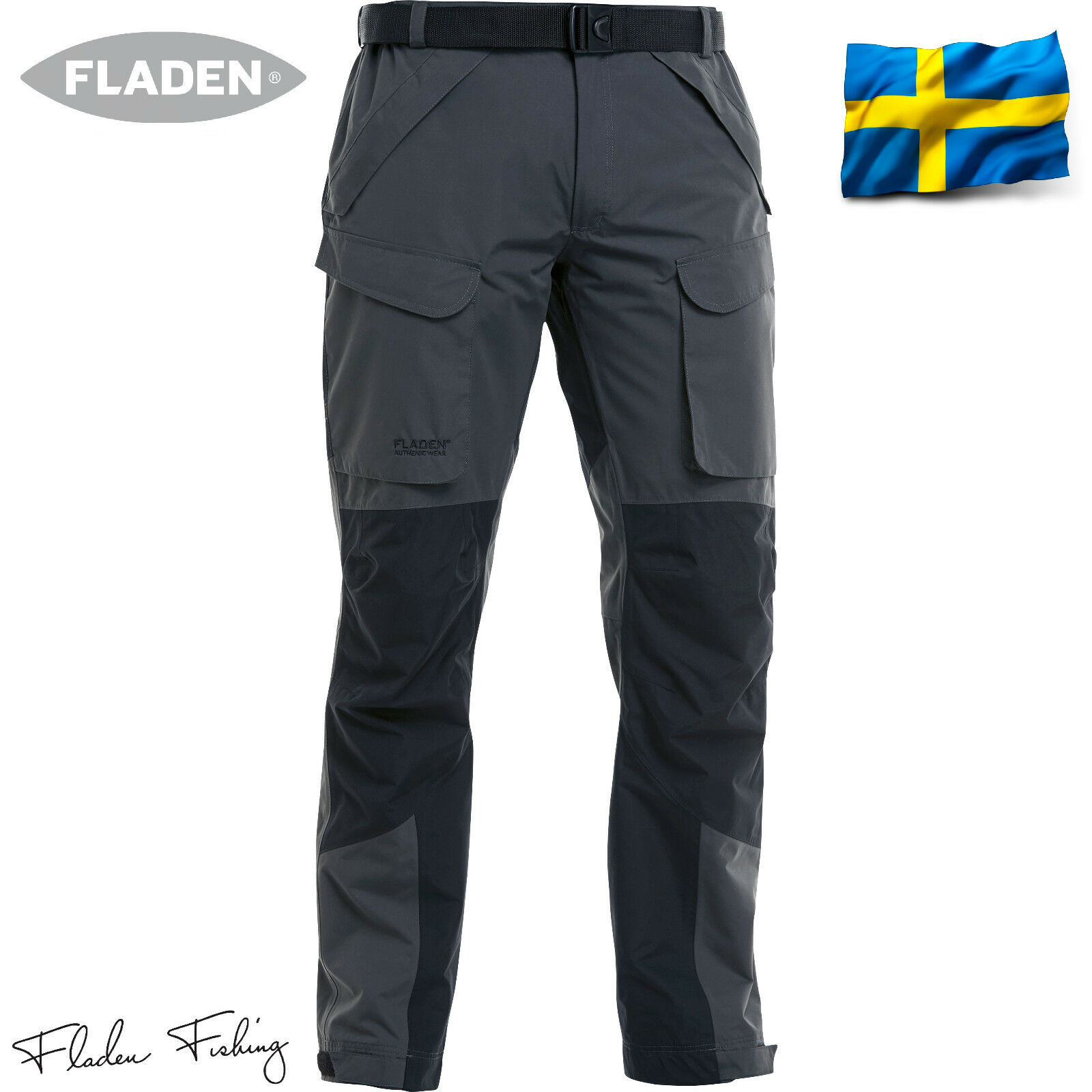 Fladen Authentic Allwetter Outdoor & Freizeit Hose Angelhose Angeln Wasserdicht