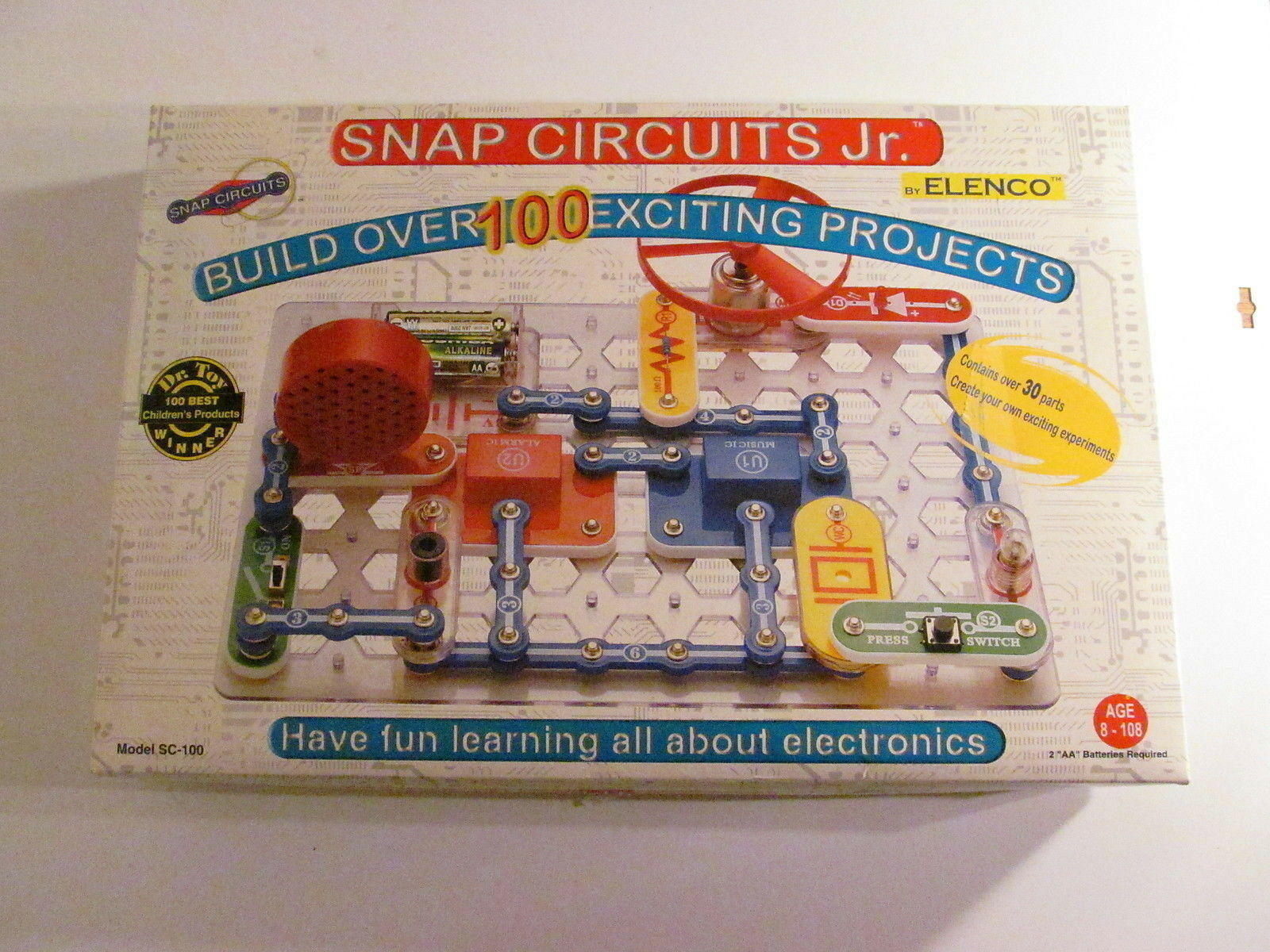 Educational Snap Circuits Jr Sc 100 Electronics Discovery Kit New Factory Sealed By Elenco Inc Electronic Learning