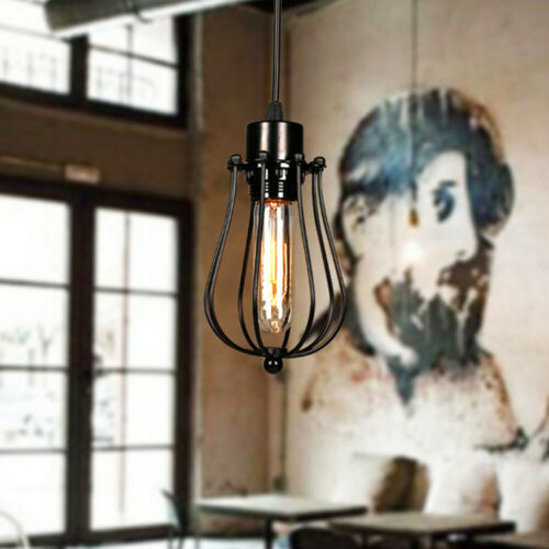 Pendant Light Shade Ceiling Industrial Geometric Iron Wire Cage Lampshade Lamp