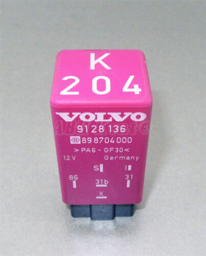 80-00 6-Pin Intermittent Wiper Relay 9128136 898704000 12V Germany 616-Volvo