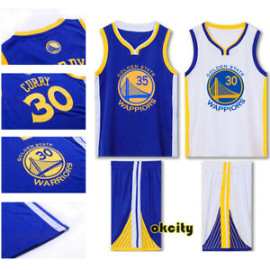 promo code 91396 1bf7a Details about Golden State Warriors Stephen Curry Klay Thompson NBA Youth  Child Kid Jersey Kit