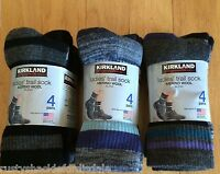 Kirkland Ladies Merino Wool Trail Socks - 4 Pair - Multiple Colors - Womens